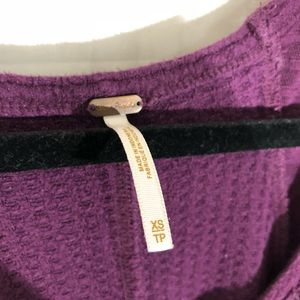 Free People Tops - Free people wine colored thermal sz. XS